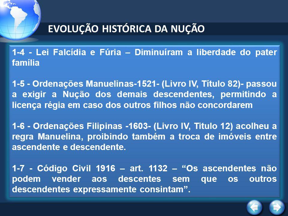 EVOLUÇÃO HISTÓRICA DA NUÇÃO