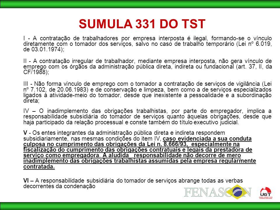 SUMULA 331 DO TST