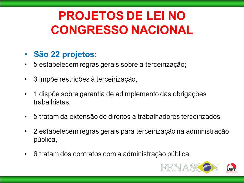 PROJETOS DE LEI NO CONGRESSO NACIONAL