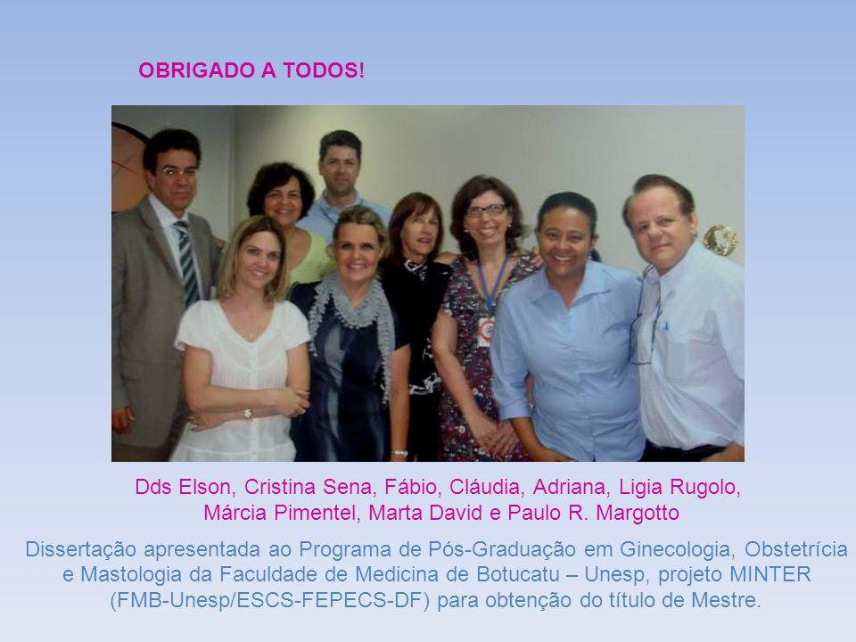Dds Elson, Cristina Sena, Fábio, Cláudia, Adriana, Ligia Rugolo,