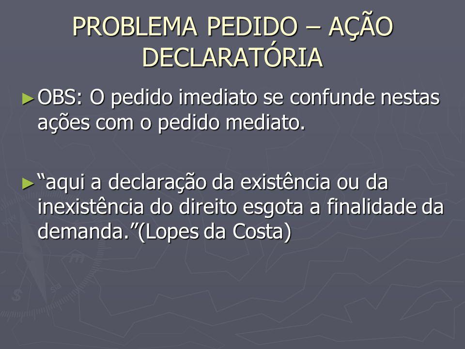 PROBLEMA PEDIDO – AÇÃO DECLARATÓRIA