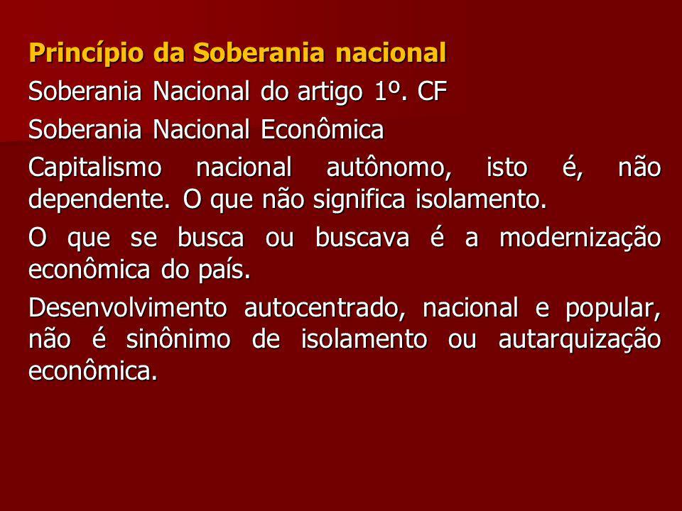 Princípio da Soberania nacional