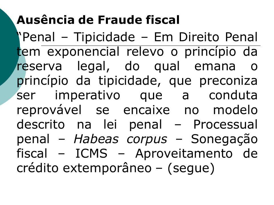 Ausência de Fraude fiscal