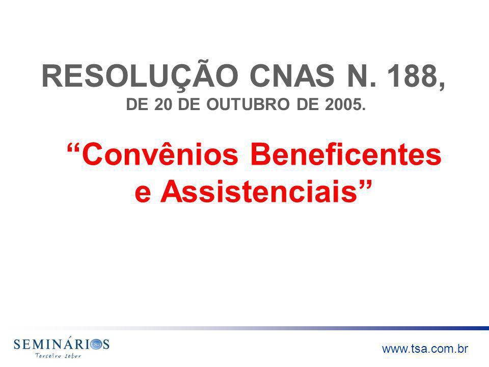 RESOLUÇÃO CNAS N. 188, DE 20 DE OUTUBRO DE 2005.