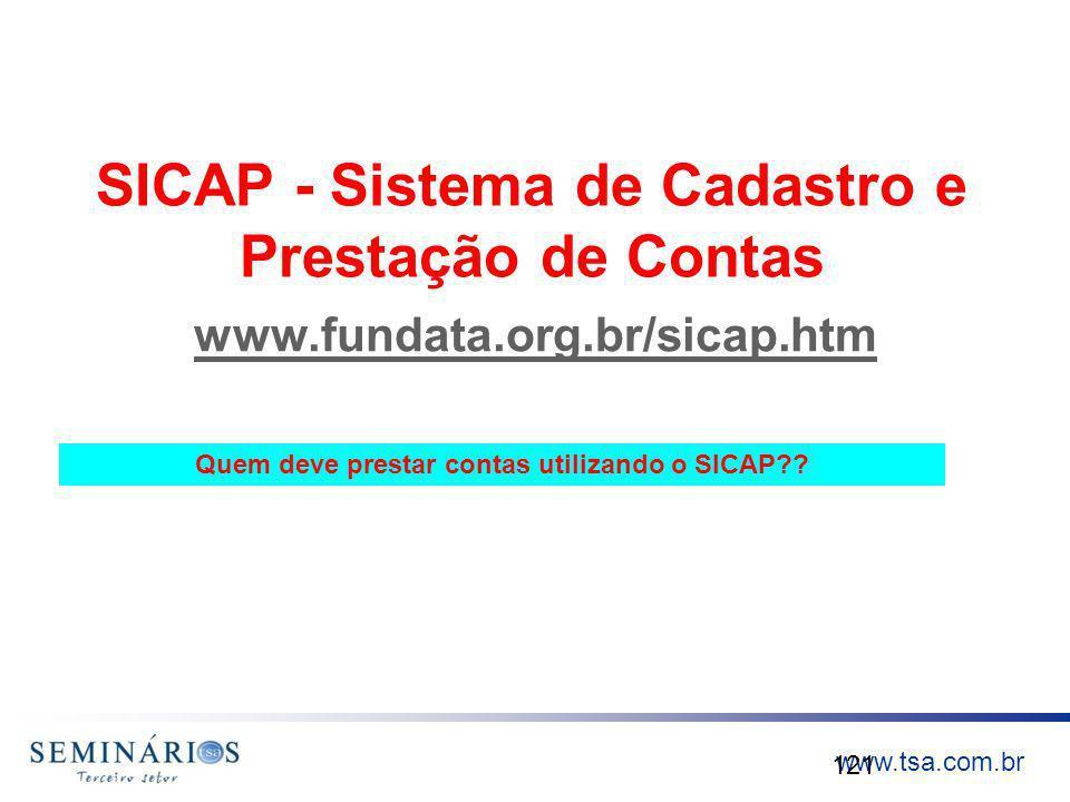 SICAP - Sistema de Cadastro e Prestação de Contas