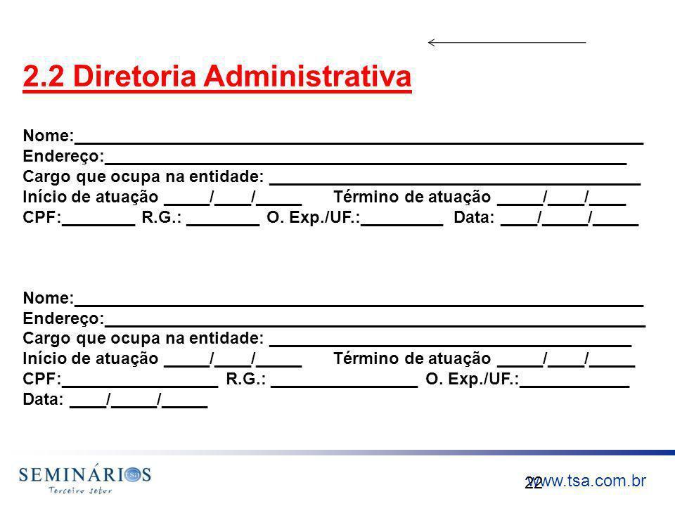 2.2 Diretoria Administrativa