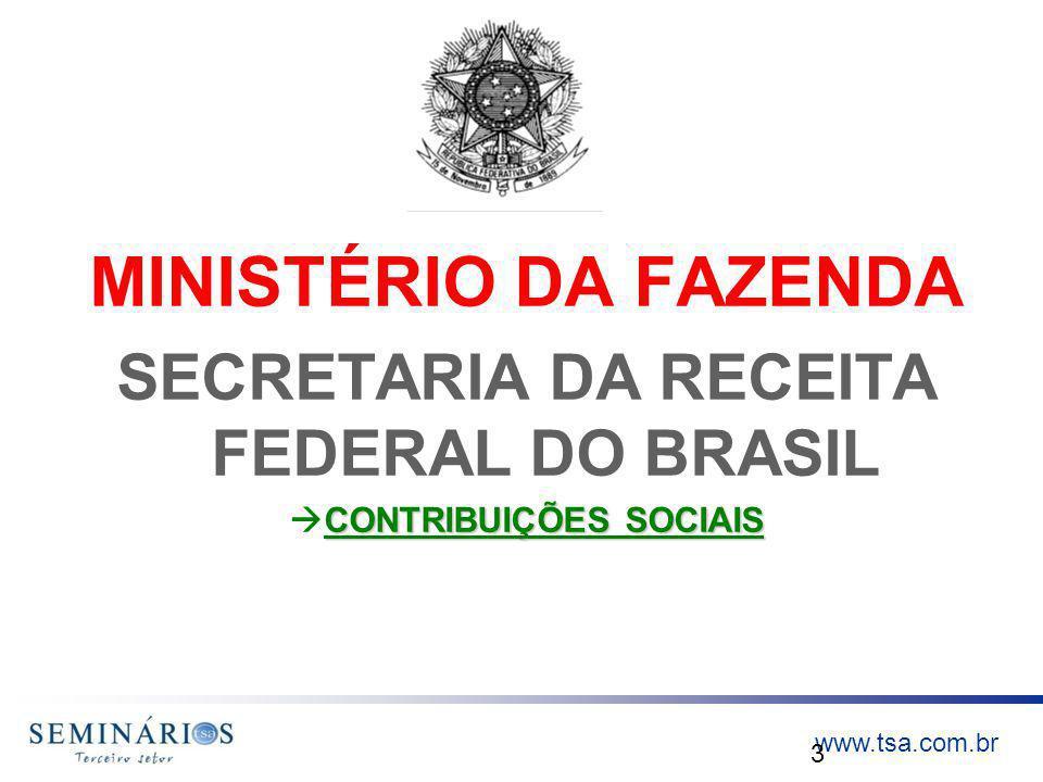 SECRETARIA DA RECEITA FEDERAL DO BRASIL CONTRIBUIÇÕES SOCIAIS