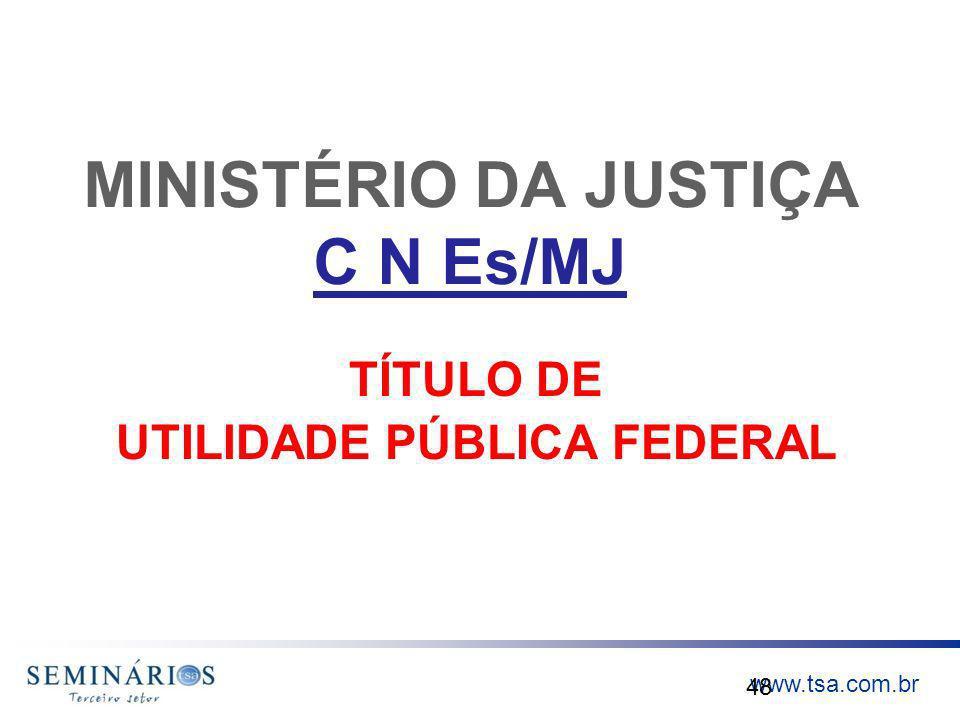 MINISTÉRIO DA JUSTIÇA C N Es/MJ