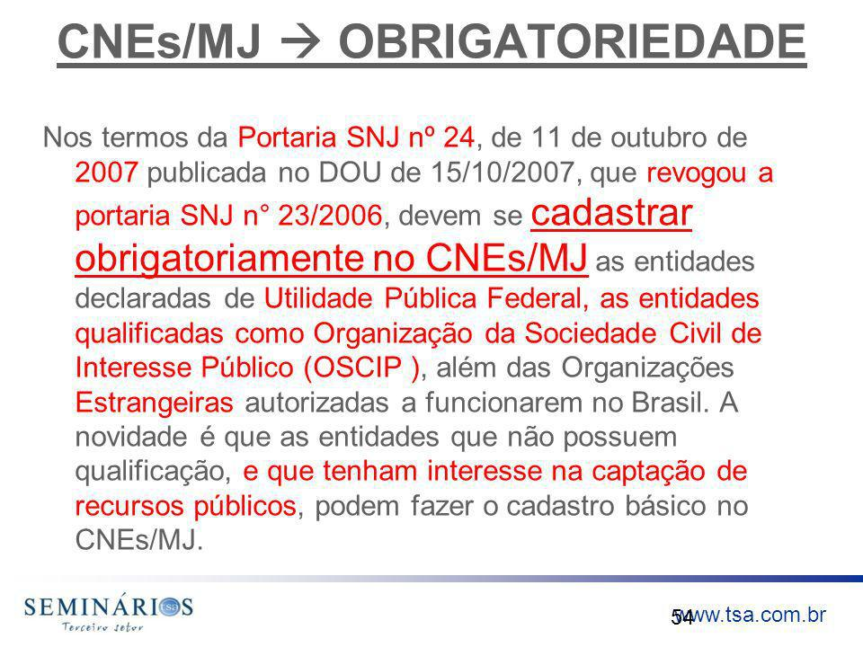 CNEs/MJ  OBRIGATORIEDADE