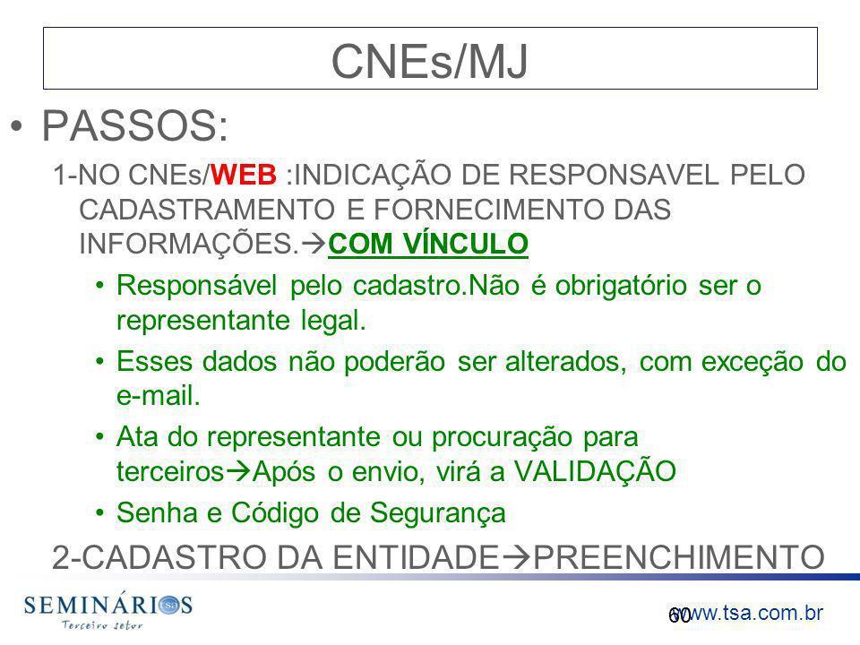 CNEs/MJ PASSOS: 2-CADASTRO DA ENTIDADEPREENCHIMENTO