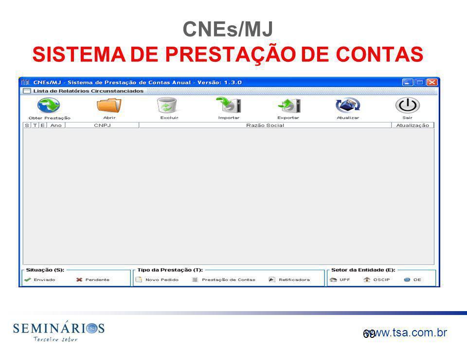 CNEs/MJ SISTEMA DE PRESTAÇÃO DE CONTAS