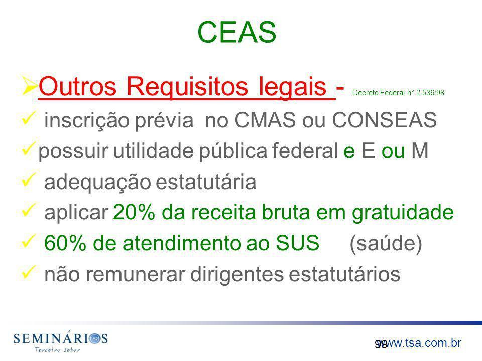 CEAS Outros Requisitos legais - Decreto Federal n° 2.536/98