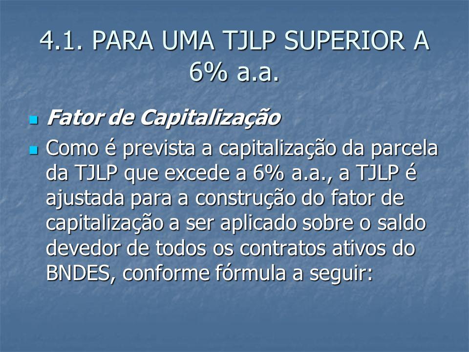 4.1. PARA UMA TJLP SUPERIOR A 6% a.a.