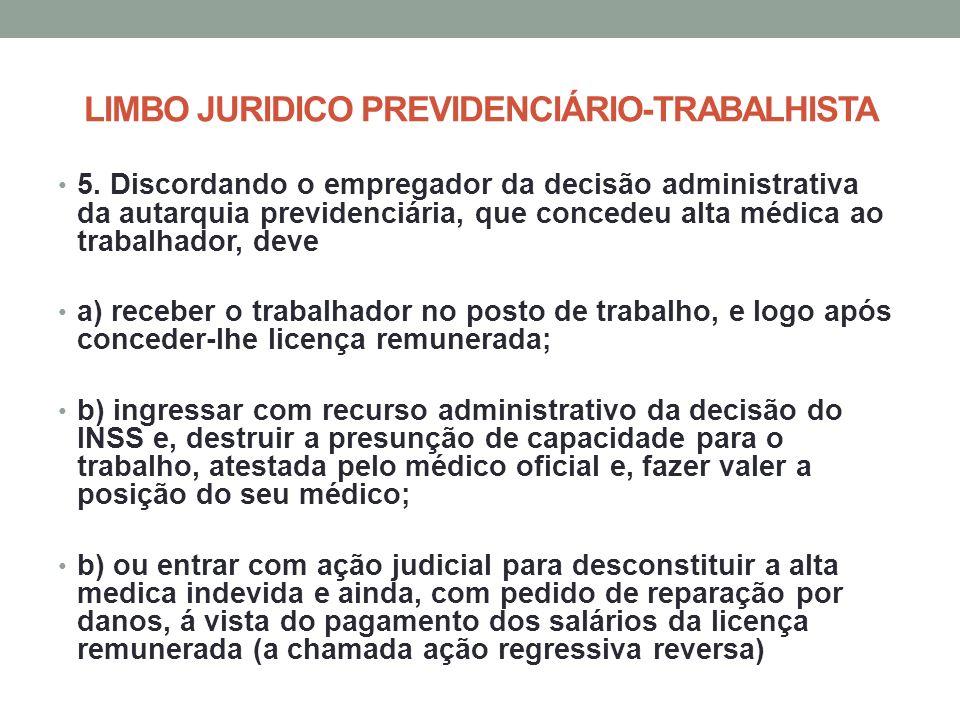 LIMBO JURIDICO PREVIDENCIÁRIO-TRABALHISTA