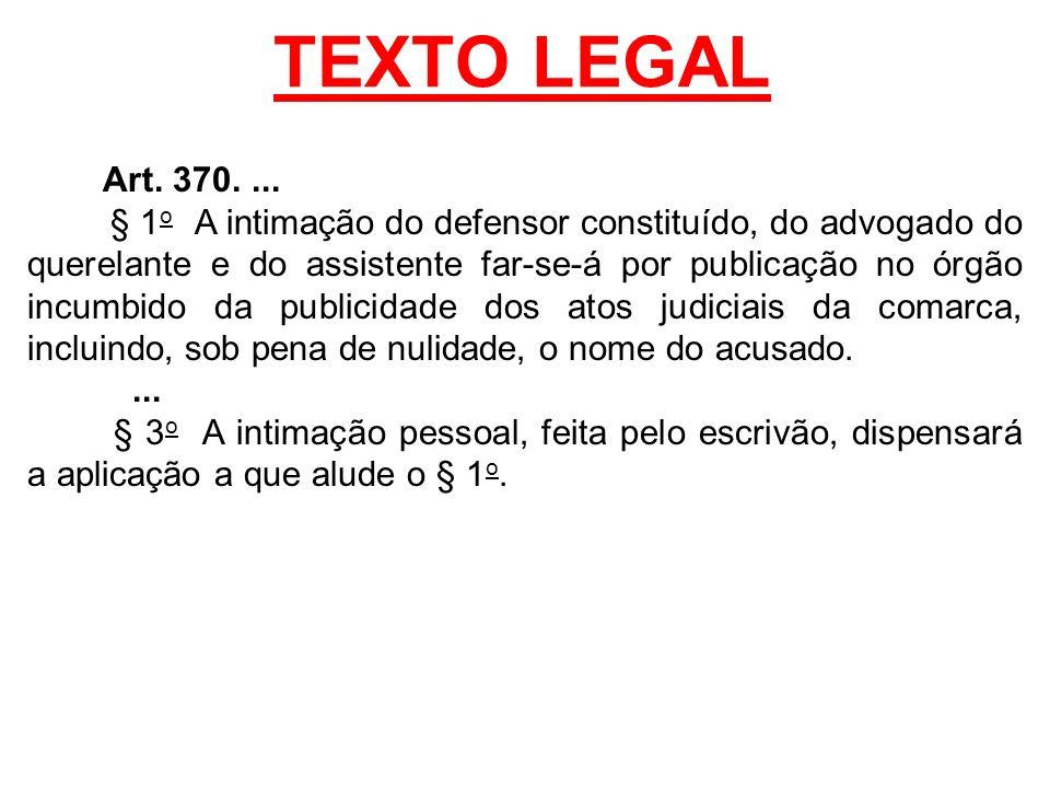 TEXTO LEGAL Art. 370. ...