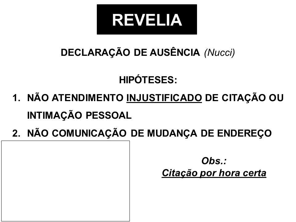 DECLARAÇÃO DE AUSÊNCIA (Nucci)