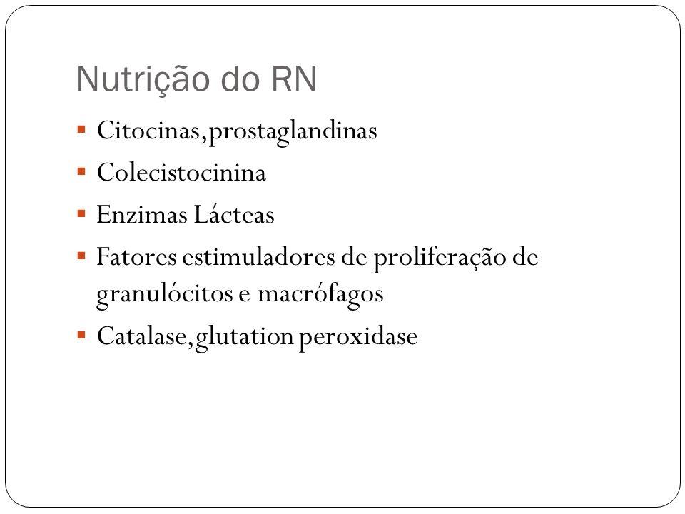 Nutrição do RN Citocinas,prostaglandinas Colecistocinina