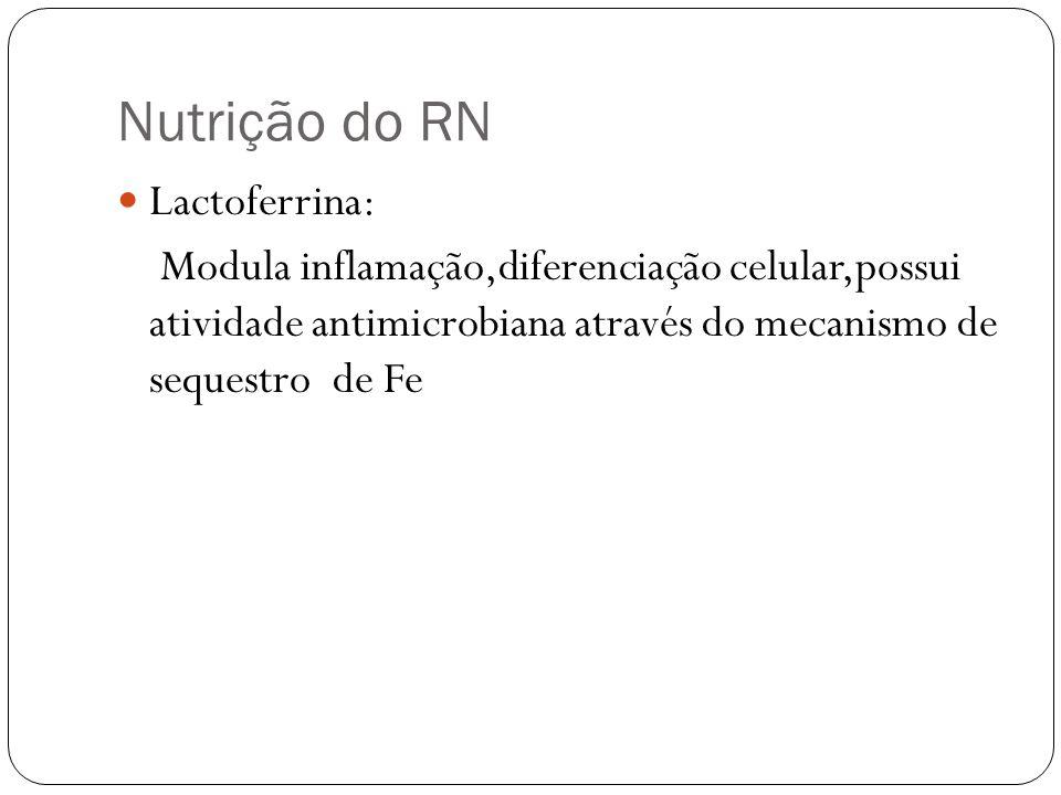 Nutrição do RN Lactoferrina:
