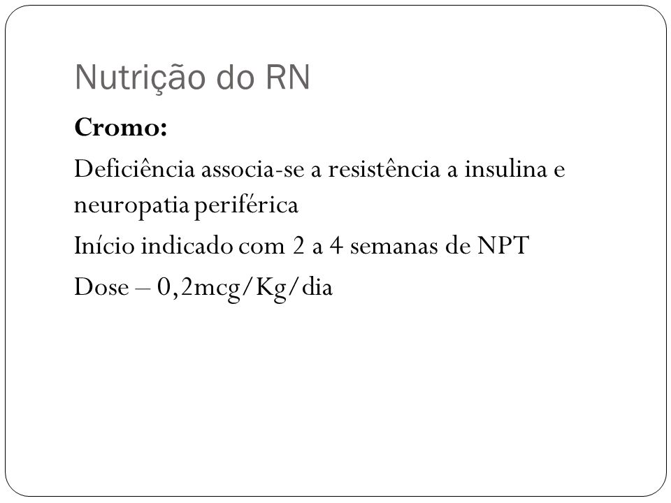 Nutrição do RN