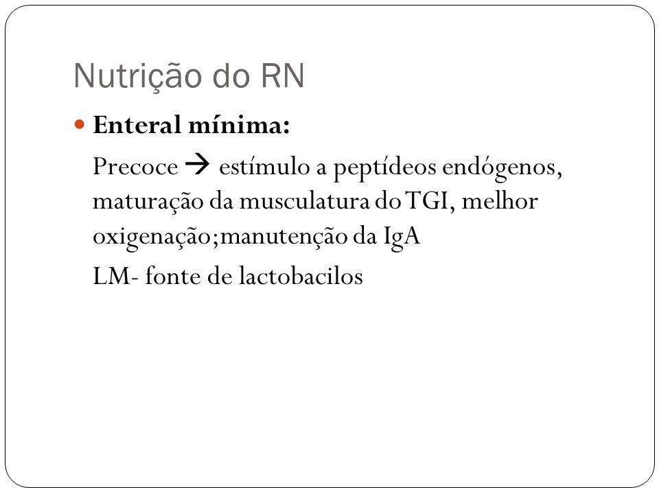 Nutrição do RN Enteral mínima: