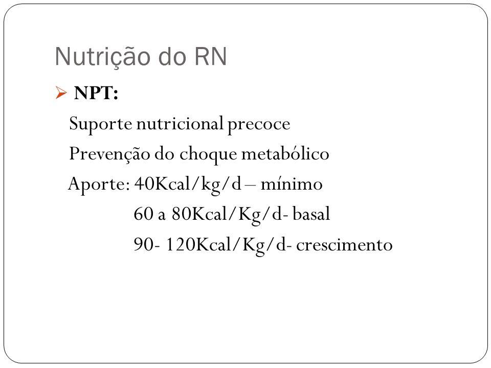 Nutrição do RN NPT: Suporte nutricional precoce