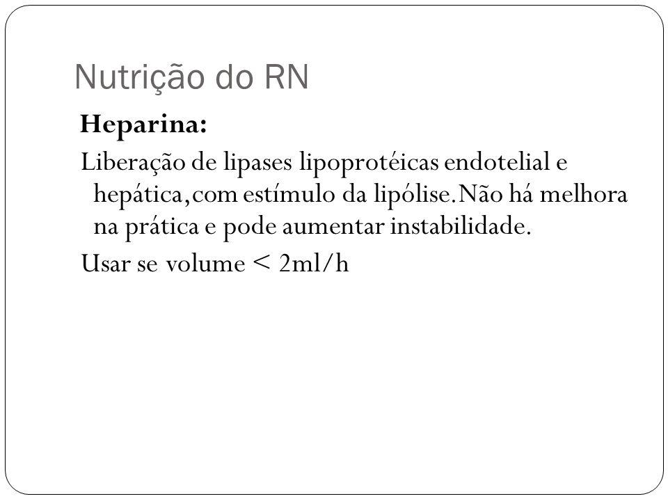 Nutrição do RN Heparina: