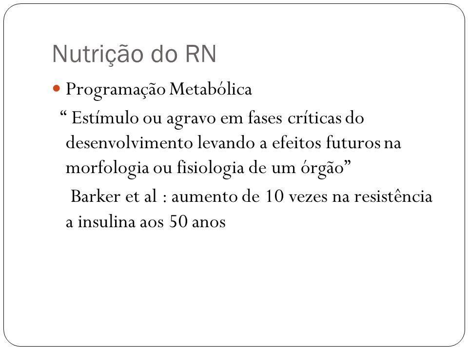 Nutrição do RN Programação Metabólica