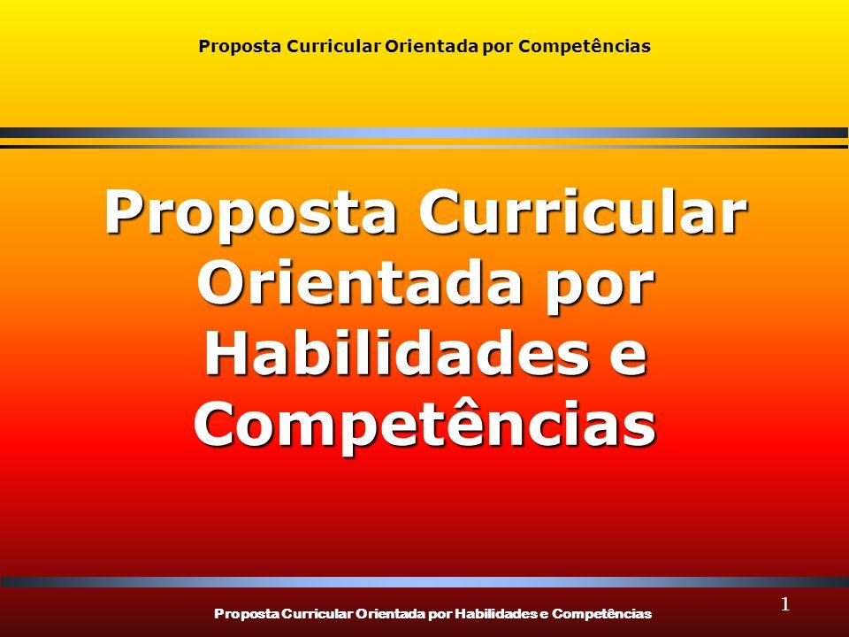 Proposta Curricular Orientada por Competências