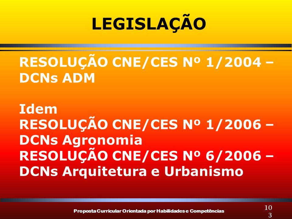 LEGISLAÇÃO RESOLUÇÃO CNE/CES Nº 1/2004 – DCNs ADM Idem