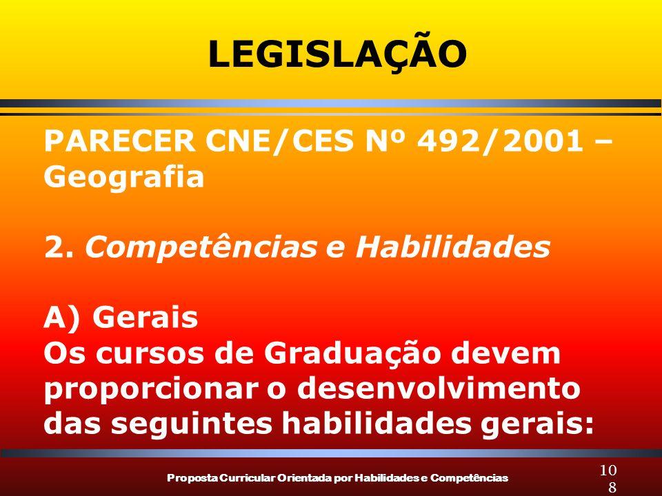 LEGISLAÇÃO PARECER CNE/CES Nº 492/2001 – Geografia