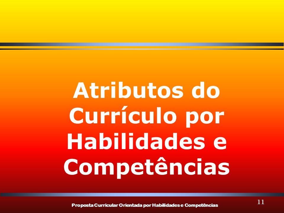 Atributos do Currículo por Habilidades e Competências