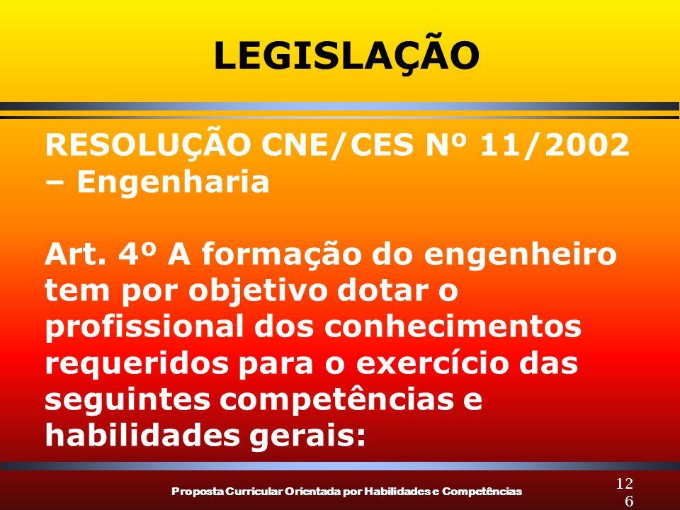 LEGISLAÇÃO RESOLUÇÃO CNE/CES Nº 11/2002 – Engenharia