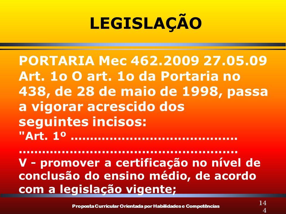 LEGISLAÇÃO PORTARIA Mec 462.2009 27.05.09