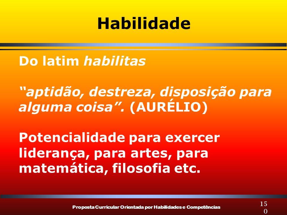 Habilidade Do latim habilitas