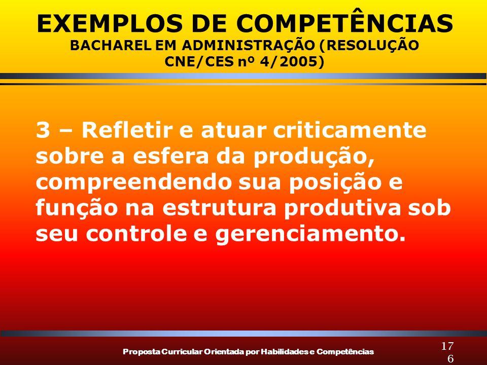EXEMPLOS DE COMPETÊNCIAS