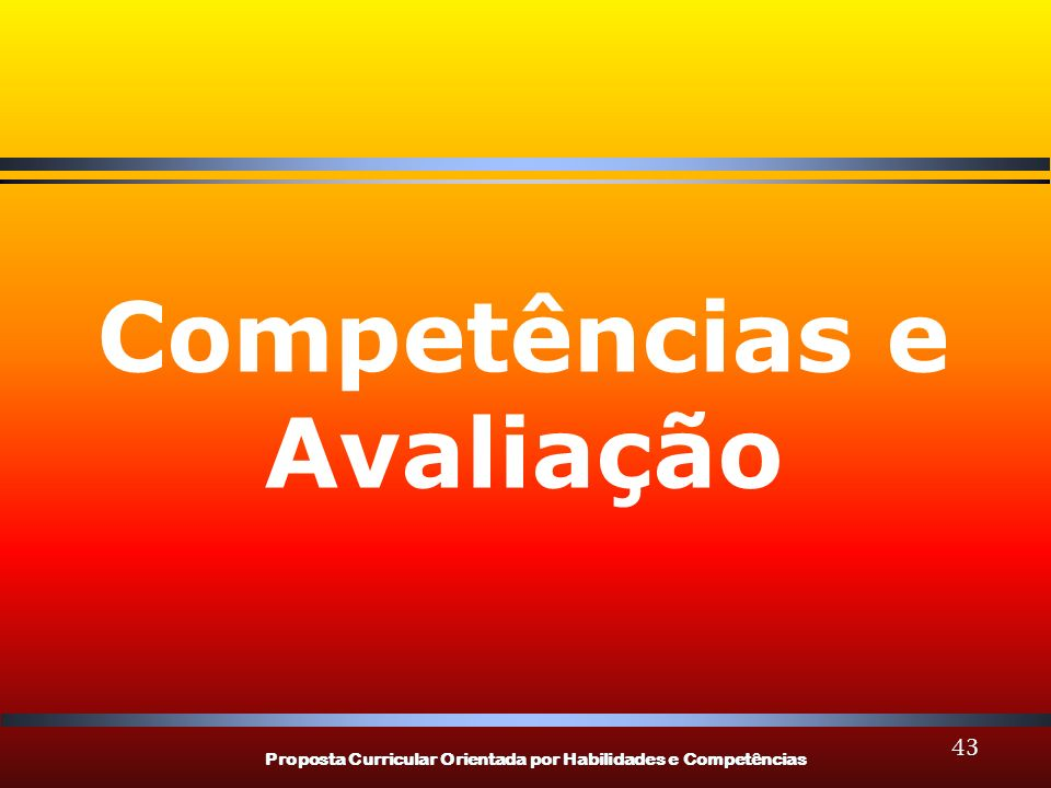 Competências e Avaliação