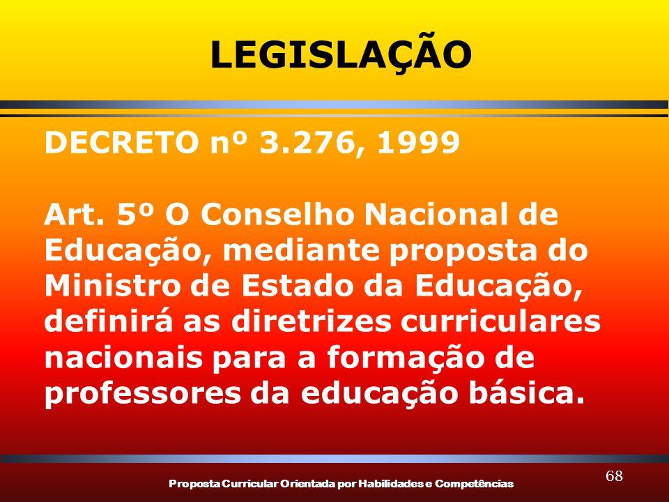 LEGISLAÇÃO DECRETO nº 3.276, 1999.
