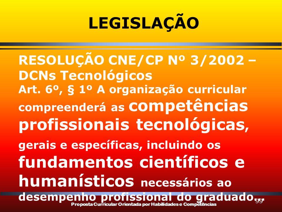 LEGISLAÇÃO RESOLUÇÃO CNE/CP Nº 3/2002 – DCNs Tecnológicos