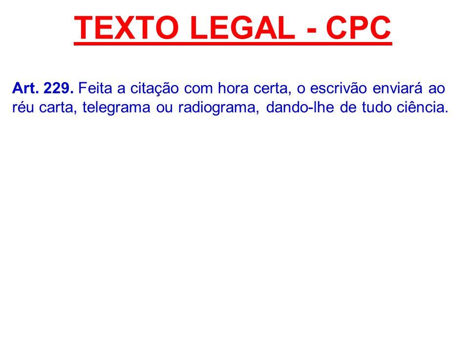 TEXTO LEGAL - CPC Art. 229.