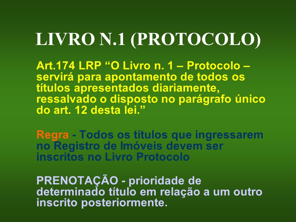 LIVRO N.1 (PROTOCOLO)