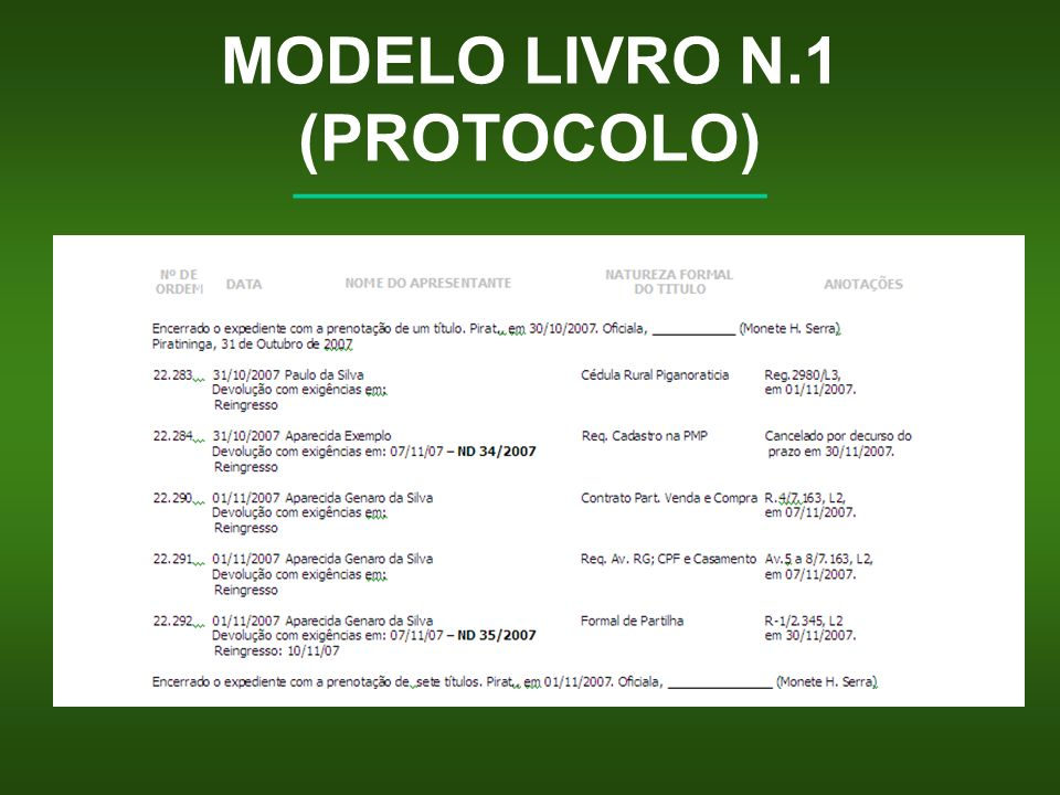 MODELO LIVRO N.1 (PROTOCOLO)