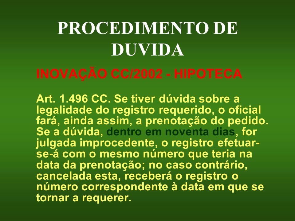 PROCEDIMENTO DE DUVIDA