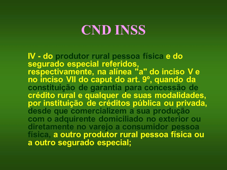 CND INSS