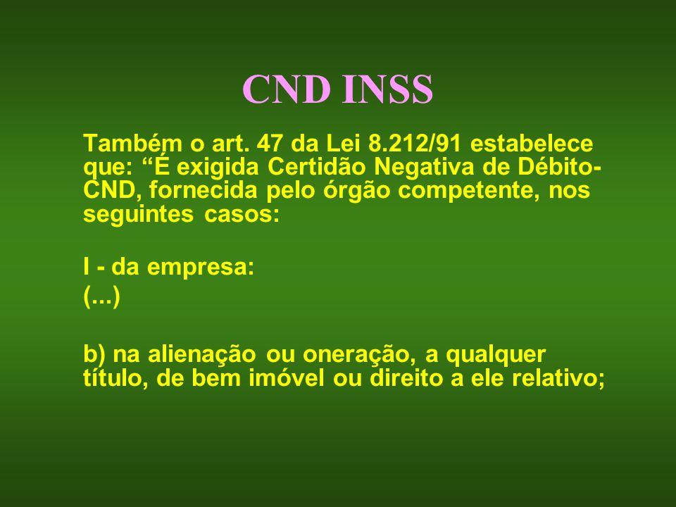 CND INSS I - da empresa: (...)