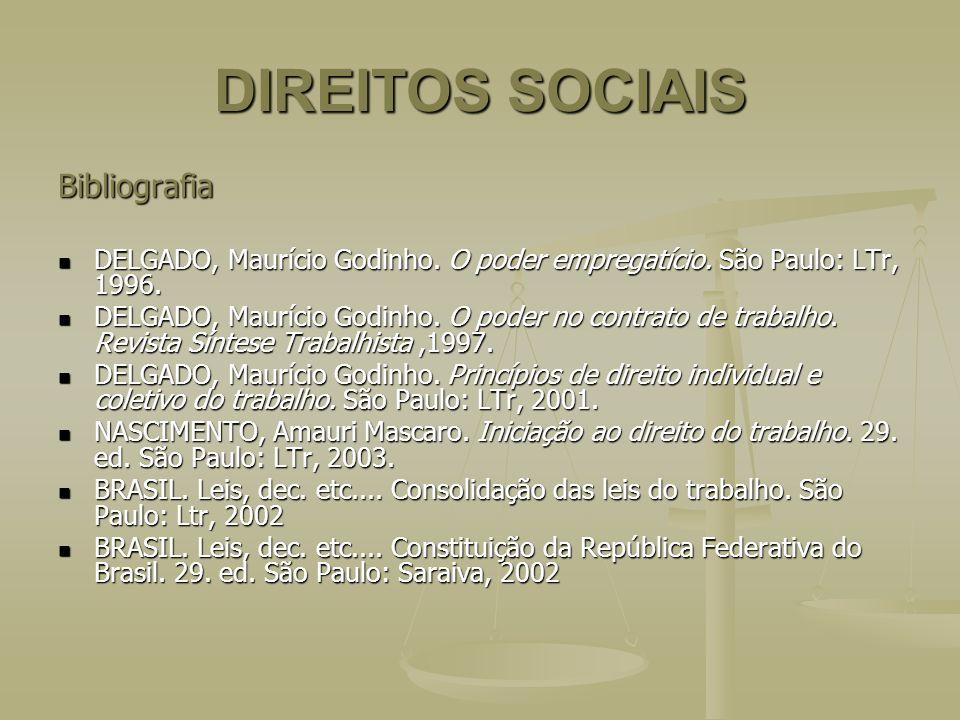 DIREITOS SOCIAIS Bibliografia