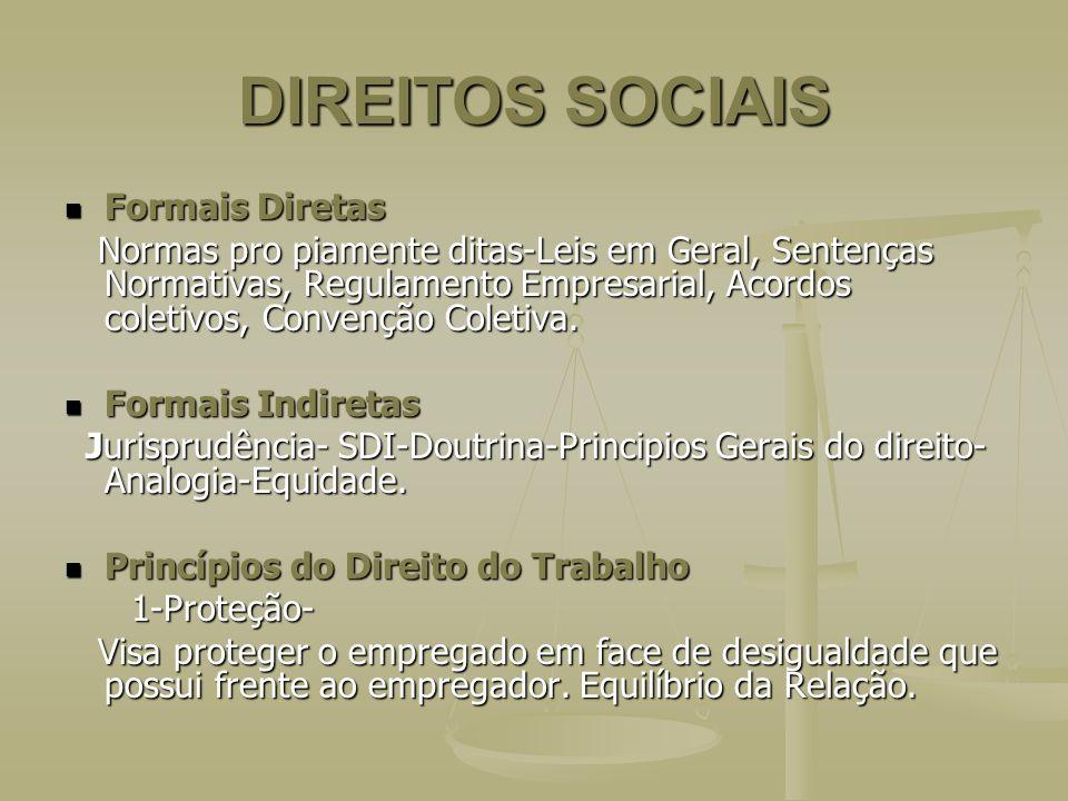 DIREITOS SOCIAIS Formais Diretas