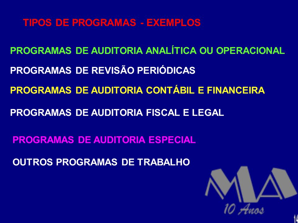 TIPOS DE PROGRAMAS - EXEMPLOS