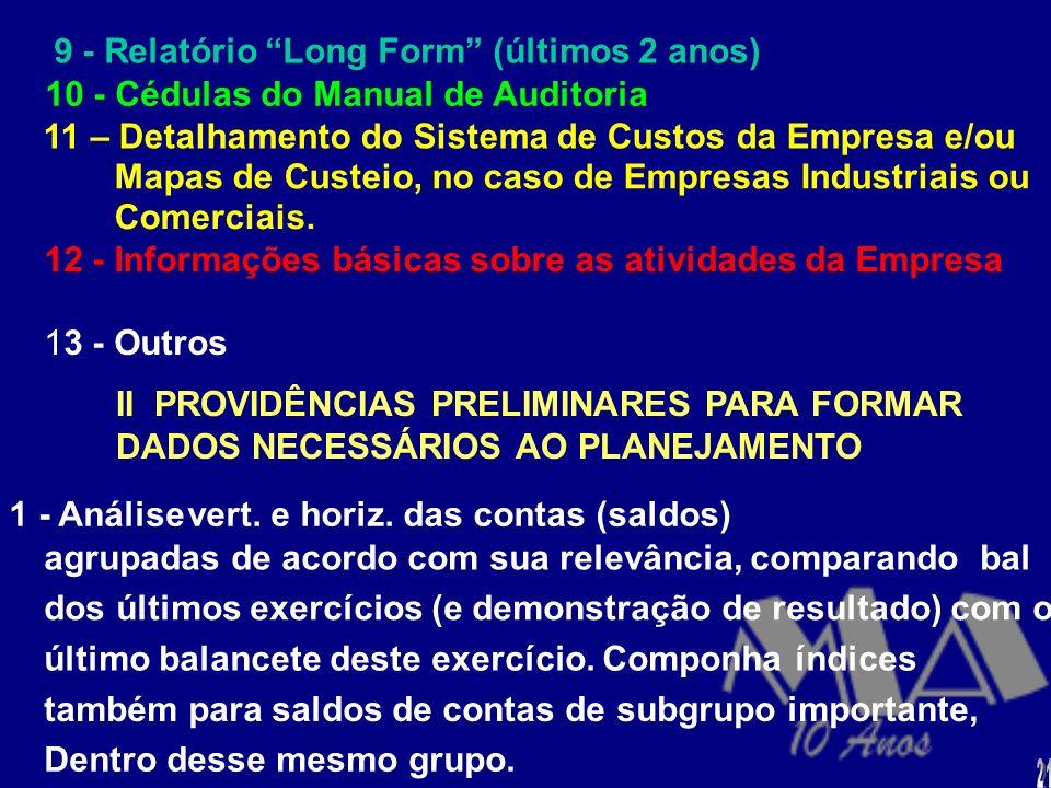 9 - Relatório Long Form (últimos 2 anos)