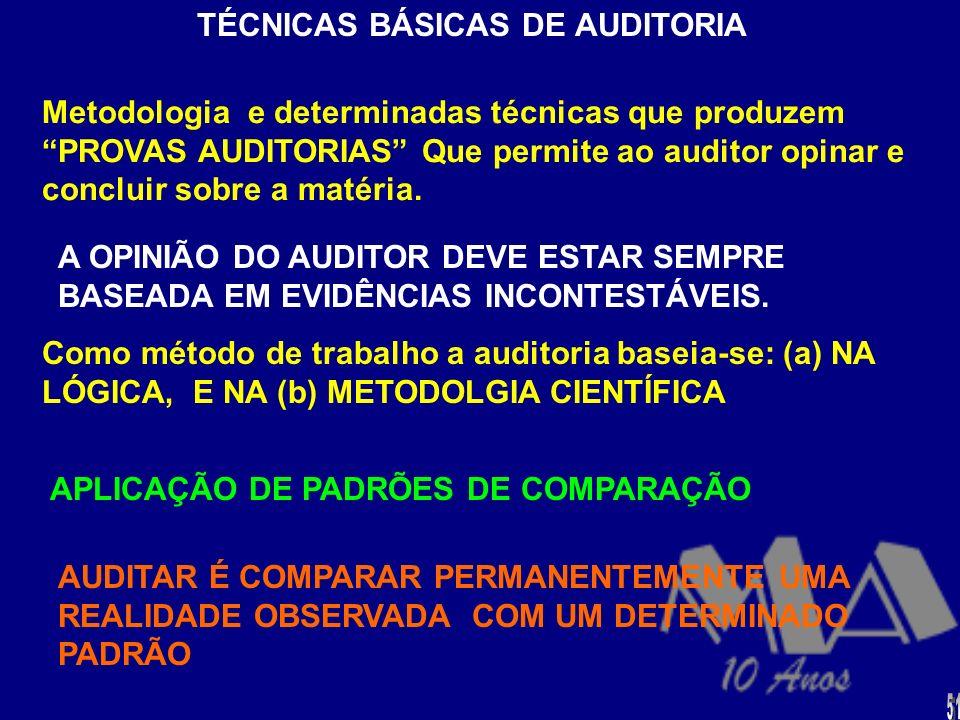 TÉCNICAS BÁSICAS DE AUDITORIA