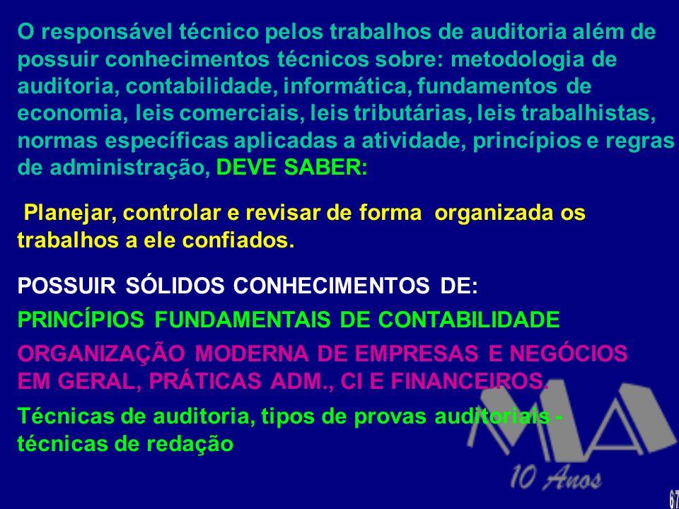 POSSUIR SÓLIDOS CONHECIMENTOS DE: